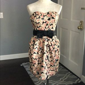 H&M Strapless Sweetheart Floral Dress